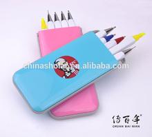 Gift pen set with ball pen, pencil & highlighter