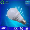 High quality 3W led bulb e27 ceramic Round 50mm