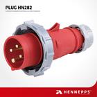 Hennepps British Standard Male IP67 400V 16A 4 Pin Brass Hole Plug