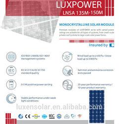 150w mono pv solar panel