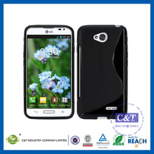 C&T Black soft s line tpu jelly back cover for lg l70