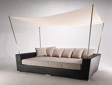 Al aire libre de mimbre antiguo sofá-cama( del ya- 5003)