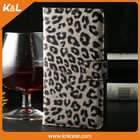 brown leopard Leather color , Mobile Phone PU Case for Samsung S5 PU leather, for Galaxy S5, 9600,