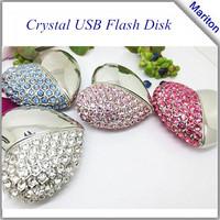 Diamond metal heart style jewelry usb flash drives 4G 8G