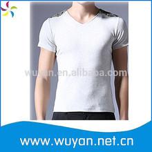 cotton&spandex tight mans t-shirt