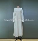 Elegant simple plain muslim women clothing slim kaftan dubai abaya