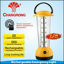 SMD LED rechargeable portable camping lantern with touch switch
