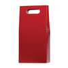 Red Color Customized Wine Carrier Bag , Wine Packaging Bag with Patch handle