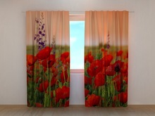 3D PHOTO PRINT READY MADE WINDOW CURTAIN IN POLY