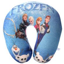 Wholesale customized popular Frozen cartoon character printed fancy soft u-shape baby pillow