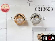 CZ Crystal Ring Alloy Ring Enamel Craft with Crystal Key Ring