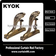 2014 sıcak satış yüksek kaliteli mart dubai dekoratif perde çubuk çift perde çubuk braketi ayarlanabilir perde çubuk braketi