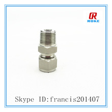 Swagelok style metric tube connected and male NPT thread male connector tube fitting