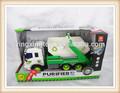Novo produto 1:36 de plástico crianças saneamento carro de brinquedo som e luz caminhão friction