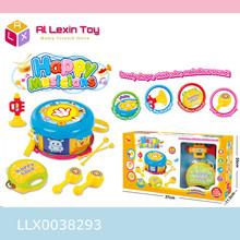 Cartoon educational Musical Instruments pretend preschool drum toys plastic Kids musical playset toys