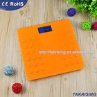 JS180-823S (Orange) New Silicon Bathroom Scales Digital