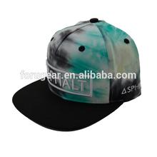 cheap custom embroidery flat brim tie dye snapback cap