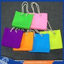 Wholesale new design silicone bag, fashion women silicone beach bag,cheap lady silicone rubber bag