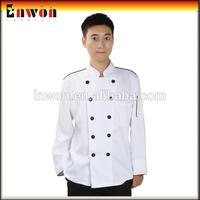 Best quality chef jacket hotel staff uniform chef coat
