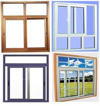 aluminium aluminum/pvc sliding glass window and door