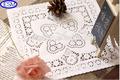 Papel decorativo doily doilies de papel doilies de papel quadrados