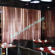 Fashion Hotel/Restaurant/Bar Decorative Metal Mesh Drapery Curtain