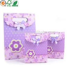 Purple Christmas decorative handmade gift paper bag