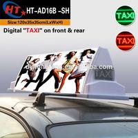 LED display advert taxi top light box