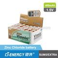 R1 en seco de la batería de la célula( tamaño n sum5 cloruro de zinc de la batería)