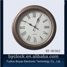 42cm vintage brass wall clock