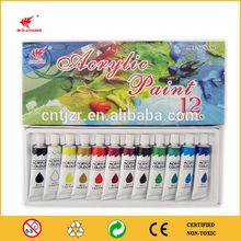 Aluminum tube non-toxic acrylic paint with EN71