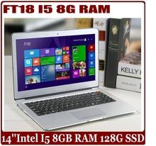 14 inch Intel Core I5 3317U 8GB RAM 128GB SSD laptop compuer Full aluminium ultrabook notebook