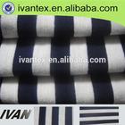wholesale yarn dyed black and white stripe fabric