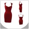 2014 newest fashion red party dress gorgeous woman night dress rayon bandage dress