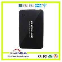 4000mah Power Bank Wireless Hard Drive Case USB 3.0 2.5 HDD Case WiFi