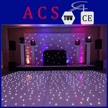 starlit white dance floor/interactive led dance floor for wedding party/Portable Dance Floor Product