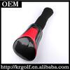 Custom Made Black&Red Glossy PU Golf Driver Head Cover Headcover