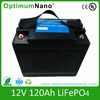 Rechargeable 12V 120Ah lithium ion battery for solar storage