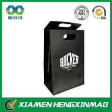Black kraft paper bag , custom kraft paper bag with logo, die cut handle bag