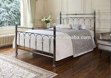 Double Queen size Designer Antique home platform Metal bed (MB-100)