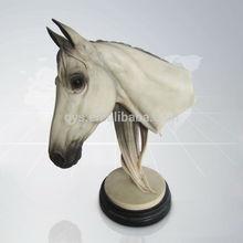 Resin Horse Head Sculpture