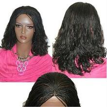 cheap 5A grade peruvian virgin remy glueless full lace afro dreadlock micro braids wig