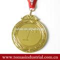 Oem idea aduana hace el color del oro del metal medalla de recuerdo