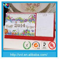 Customized printing unique calendar design 2014