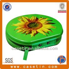 Manufacture Hot sale D-shape metal tin CD case/DVD BOX