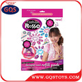 Girls designer toy sticker for nail refill pack