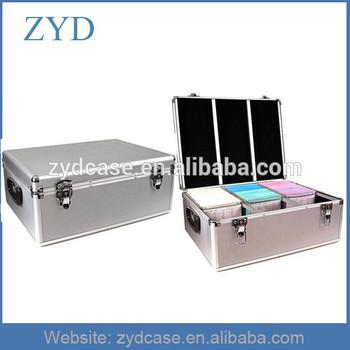 Silver Aluminum Hard Metal Cute CD DVD Case ZYD-CD82003
