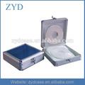 Portátil de aluminio lindo mini cd cajas de varios tipos de cajas de cd zyd-cd82004