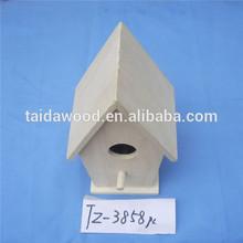 comfortable wooden bird house