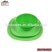 Specialized design melamine bright colored tableware dinnerware set